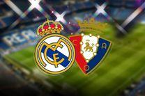 پخش زنده بازی اوساسونا و رئال مادرید از شبکه ورزش