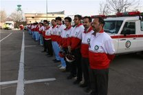 خدمات رسانی نیرو های امدادی جمعیت هلال احمر هرمزگان
