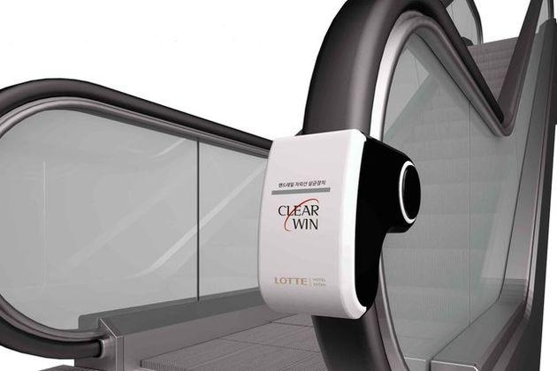 طراحی دستگاهی برای استریل کردن پله برقیها