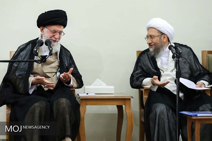دیدار رئیس و مسئولان قوه قضائیه با رهبر معظم انقلاب اسلامی