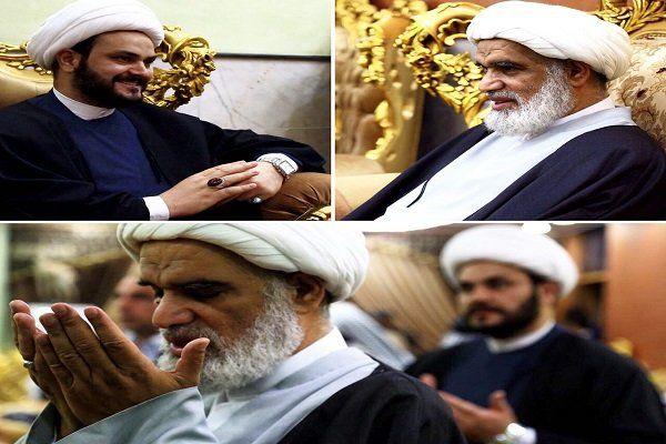 آیتالله «عباس کعبی» با دبیرکل جنبش «نُجَباء» عراق دیدار کرد