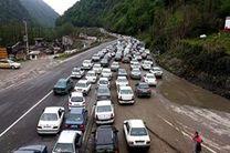 ترافیک نیمهسنگین در برخی مناطق محور هراز