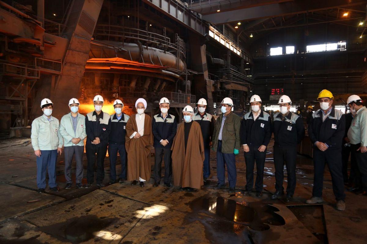 ذوب آهن اصفهان در شرایط سخت، با توان خود بر مشکلات غلبه کرده است