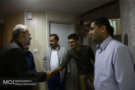 عیادت علی لاریجانی از فرمانده مهندسی نیروی زمینی سپاه