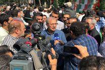 سخنگو و دبیر هیات دولت در مراسم تشییع شهدا شرکت کردند