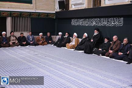 اولین شب عزاداری فاطمیه با حضور مقام معظم رهبری