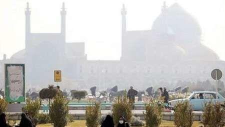 کیفیت هوای اصفهان همچنان در شرایط ناسالم قرار دارد