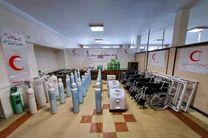 خدمات بانک امانات تجهیزات پزشکی هلال احمر به 557بیمار کرونایی