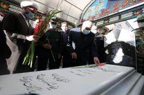استاندار کرمانشاه با آرمان های انقلاب و شهدا تجدید میثاق کرد