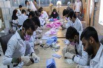تولید روزانه 10هزار ماسک سه لایه در استان اردبیل