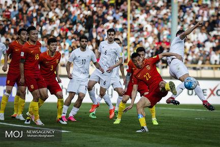 دیدار تیم ملی فوتبال ایران و چین