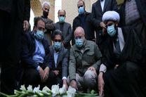 ادای احترام  رییس مجلس شورای اسلامی به ساحت شهدای کردستان