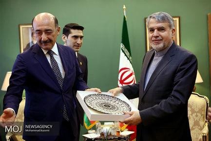 دیدار وزیر فر هنگ وارشاد اسلامی با وزیر فرهنگ آذربایجان