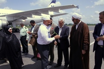 بازگشت نخستین گروه از حجاج گیلانی به فرودگاه سردار جنگل رشت