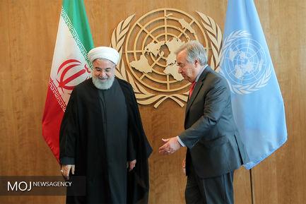 دیدار های روز چهارم و نشست خبری رییس جمهوری در مقر سازمان ملل