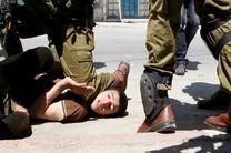 خشونت نظامیان صهیونیست علیه جوانان فلسطینی + عکس