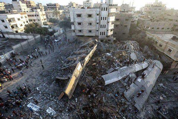 رژیم صهیونیستی محل برگزاری جشنواره عمار در غزه را بمباران کرد