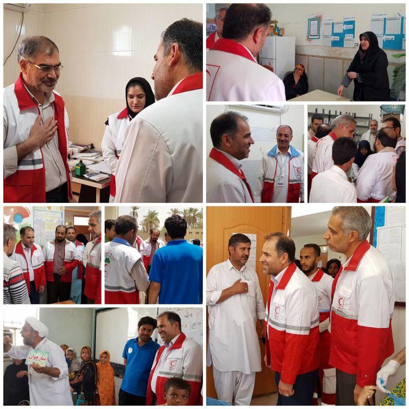 خدمت رسانی کاروان سلامت هلال احمر استان اصفهان در سیستان و بلوچستان