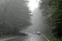 مه گرفتگی شدید در جاده های البرز