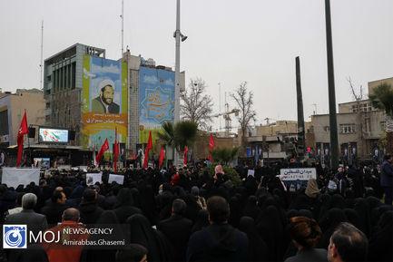 راهپیمایی هیات های مذهبی در پی شهادت سردار سلیمانی
