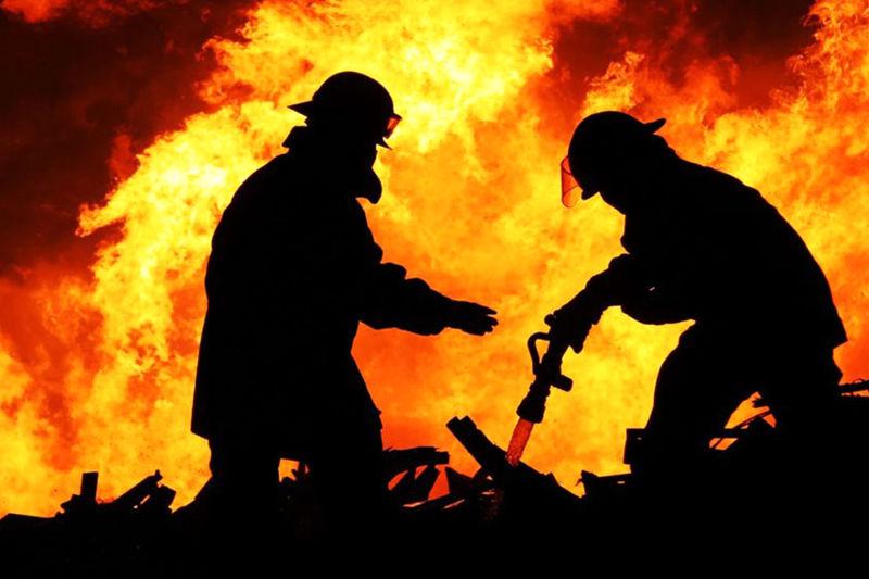 آتش سوزی در نیروگاه اهواز
