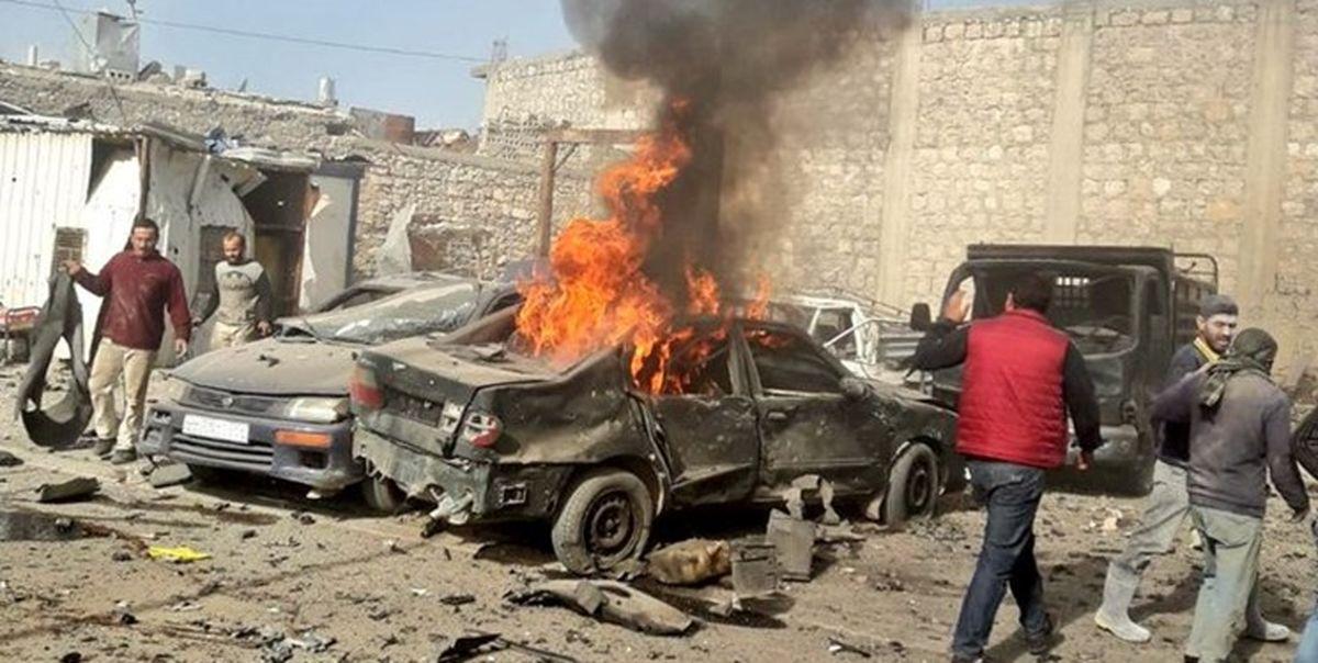 انفجار یک خودروی بمبگذاری شده در شهر الباب سوریه