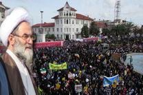 قدردانی نماینده ولی فقیه در گیلان از حضورحماسی مردم  در راهپیمایی یوم الله ۱۳ آبان