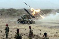 حمله موشکی انقلابیون یمن به مواضع مزدوران سعودی