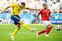 نتیجه بازی سوئد و سوییس در جام جهانی/صعود سوئد به یک چهارم نهایی جام جهانی