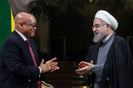 تبریک رئیسجمهور آفریقای جنوبی به روحانی