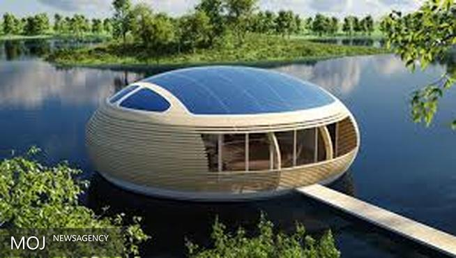 خانه شناوری که اتاق خواب آن در زیر آب است