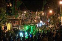 انشعاب موقت برق به هیأت های حسینی در تبریز
