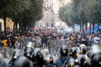 صدها معترض در جریان درگیری با نیروهای امنیتی لبنان مجروح شدند