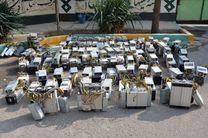 کشف 96 ماینر قاچاق از یک کارخانه متروکه در خمینی شهر