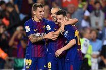 نیم فصل رویایی برای بارسلونا/بارسلونا تنها تیم شکست ناپذیر در پنج لیگ برتر اروپا