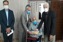 دیدار رییس اداره ورزش و جوانان شهرستان خمینی شهر با جانباز 8 سال دفاع مقدس
