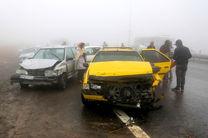 برخورد سه خودرو در آزادراه کرج - قزوین