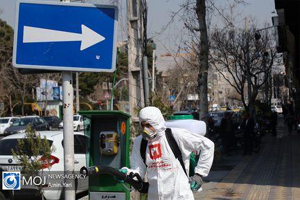 ضدعفونی معابر شهر تهران