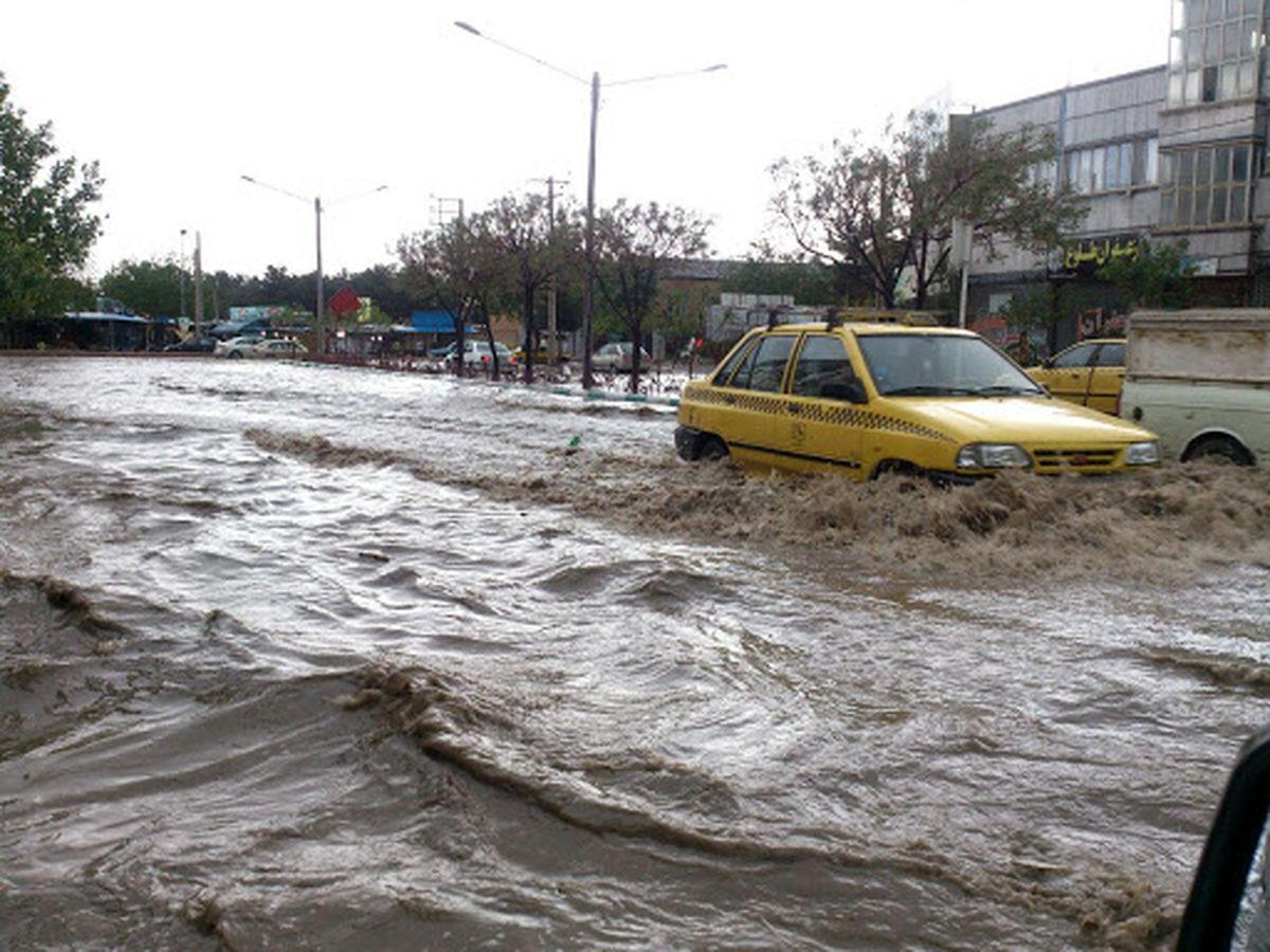 تشکیل رودخانه کمالشهر در شهرستان کرج