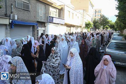 نماز عید سعید فطر در محله اختیاریه تهران
