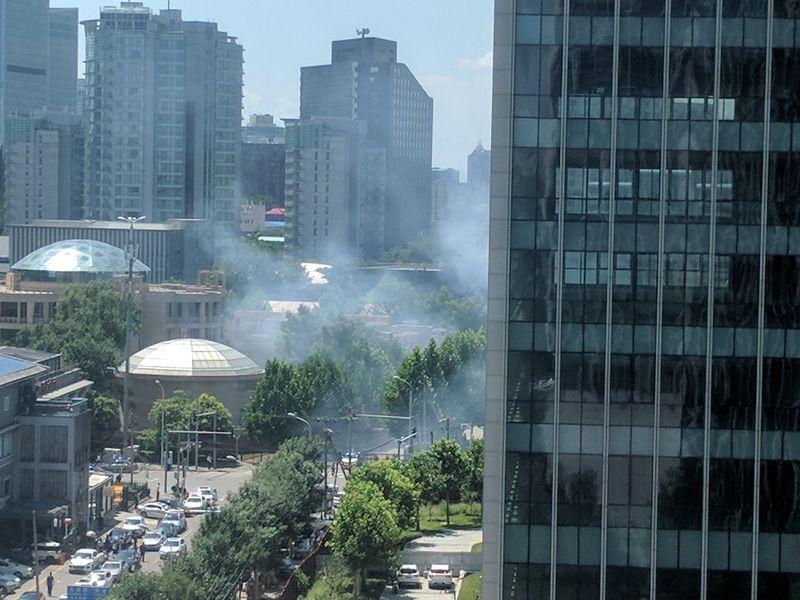 وقوع انفجار نزدیک سفارت آمریکا در پکن