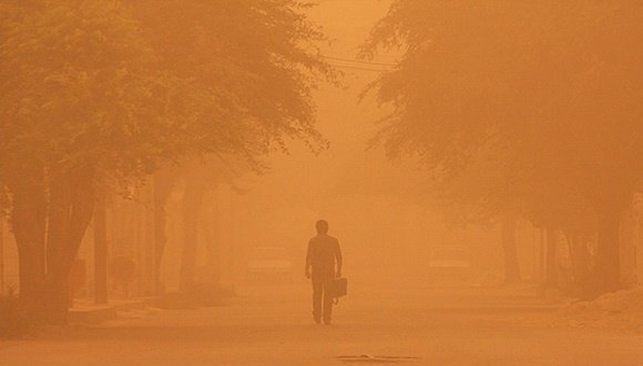 گرد و خاک در برخی شهرستان های خوزستان ماندگار است