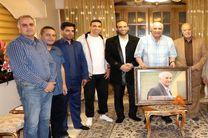 دیدار رییس هیات تنیس استان اصفهان از پیشکسوت فوتبال ایران