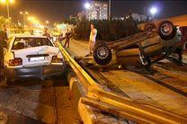 تصادف خودروی پژو در بزرگراه شهید دوران
