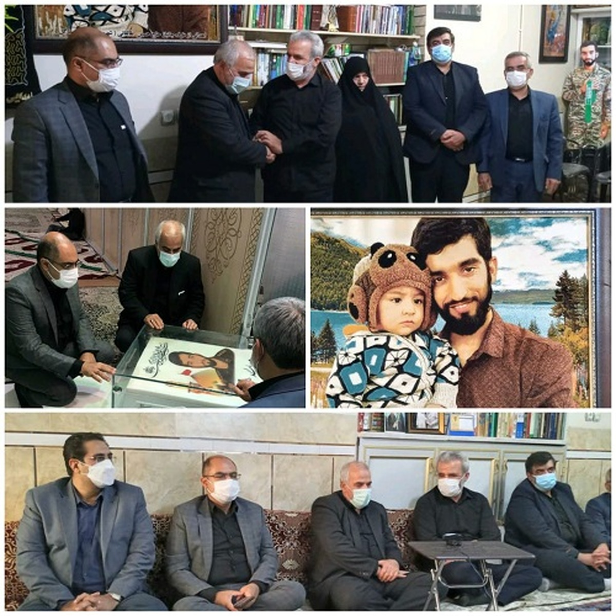 دیدار مدیر مخابرات منطقه اصفهان با خانواده شهید حججی