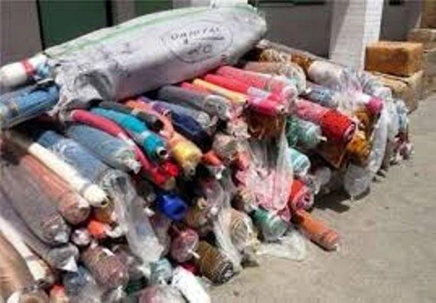 کشف 247 طاقه پارچه خارجی قاچاق در اصفهان