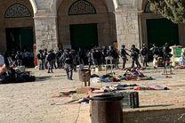 حمله شهرکنشینها به نمازگزاران فلسطینی در مسجد الاقصی