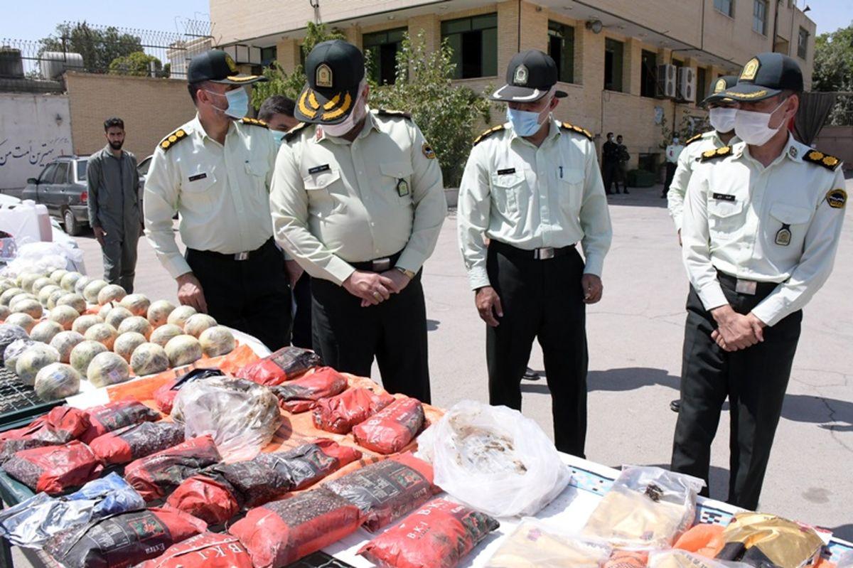 کشف یک تُن و 200 کیلو مواد مخدر در طرح قدس پلیس اصفهان