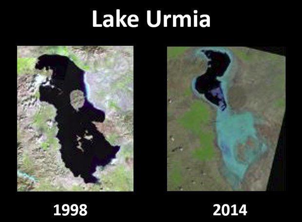 تذکر به وزیر آموزش و پرورش  در پی حذف دریاچه ارومیه از کتاب درسی