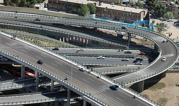افتتاح پل تقاطع بلوار ارتش- امام علی(ع) با حضور شهردار تهران